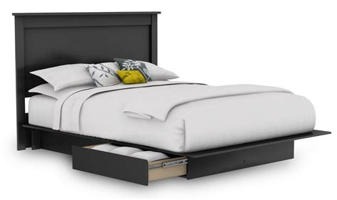 Headboard And Frame Cool Black Quilted Headboard On Platform Bed Frame With Headboard And Storage Drawers In