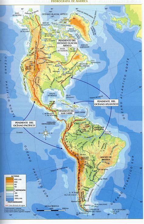 mapa topografico america sur mapa hidrografico america sur mapa hidrografico