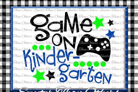 kindergarten svg kindergarten game  cut file  day