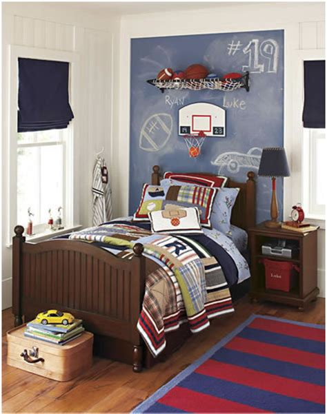 Sports Room Ideas | young boys sports bedroom themes home decorating ideas