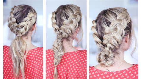 cute hairstyles dutch braid 3 in 1 double dutch braids cute girls hairstyles
