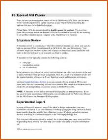 literature review template apa exles