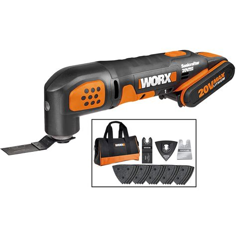 worx wx  max li ion sonicrafter cordless multi cutter   ah