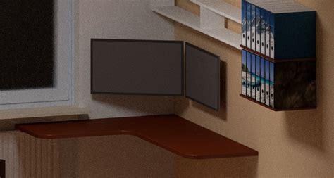 Brett Unsichtbar An Wand Befestigen schreibtischplatte ohne f 252 223 e unsichtbar an die wand