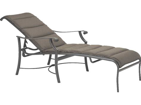 tropitone chaise lounge tropitone montreux padded sling aluminum chaise lounge
