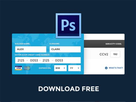 make credit card free free psd fill credit card data by pixeful themes
