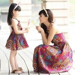 2016 matching mother daughter clothes family look matching mom and daughter dress parent child