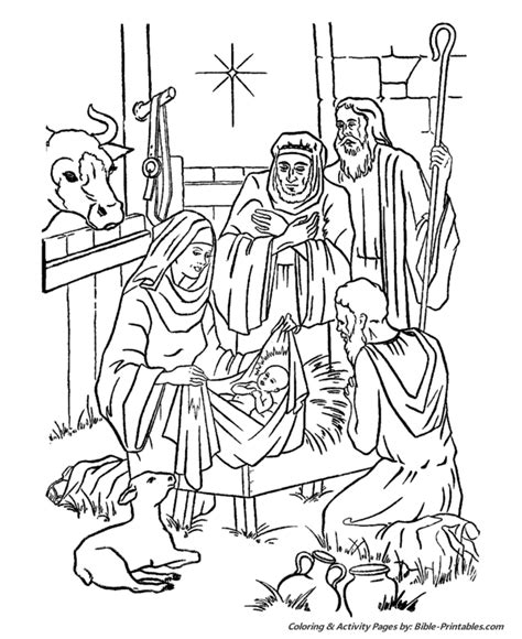 Printable Christian Christmas Story Calendar Template 2016 Printable Bible Story Coloring Pages