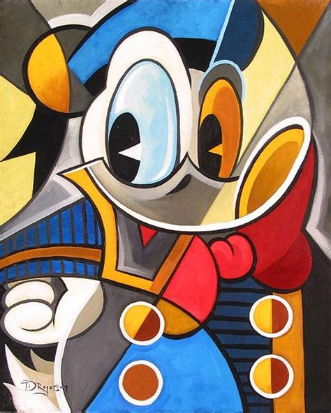 cubism artists cubist quack donald duck giclee on canvas by tim rogerson