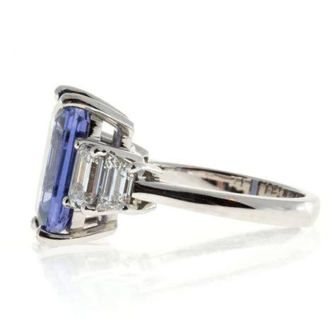 suchy emerald cut sapphire platinum