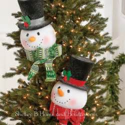 snowman tree topper lighted snowman tree topper shelley b