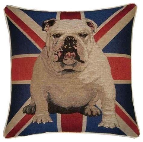 Union Jack Home Decor by Union Jack British Bulldog Tapestry Cushion By Designer