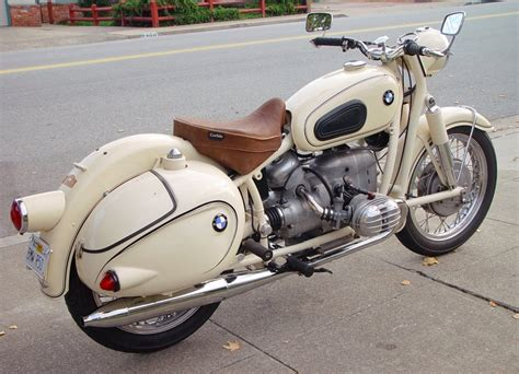 bmw motorcycle vintage white vintage bmw with hard bags and solo saddle