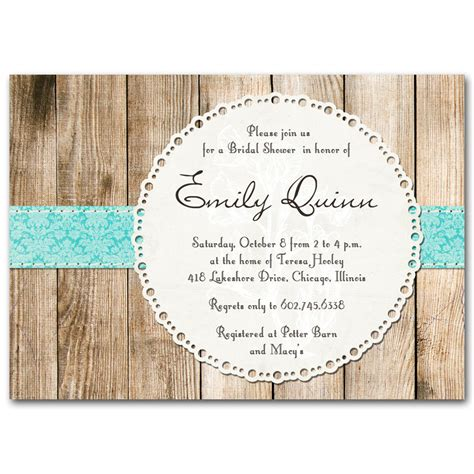 Rustic Wedding Shower Invitations bridal shower invitation rustic vintage gender neutral by