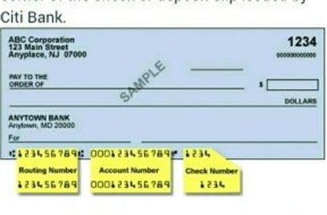 Citi Background Check How To Find The Routing Numbers For Citibank Quora