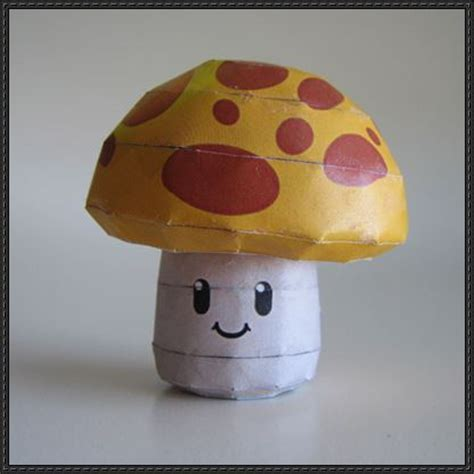 Plants Vs Zombies Paper Crafts - plants vs zombies sun shroom free papercraft
