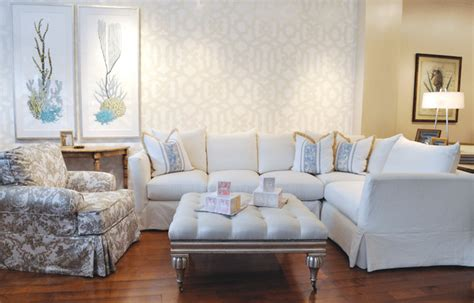 Slipcover Furniture Living Room Large White Slipcovered Sectional Style Living Room Los Angeles By Quatrine Custom