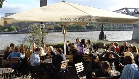 thames river view restaurants the river thames guide eating and drinking northbank