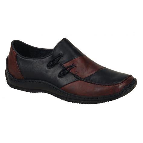 rieker womens celia black burgundy casual shoes l1762 36