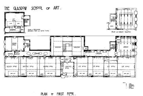 drawing school floor plans mackintosh glasgow school of travel design impressions