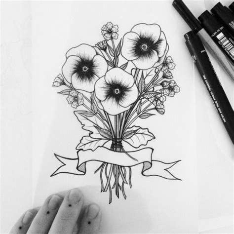 bouquet of flowers tattoo 17 best ideas about flower bouquet on