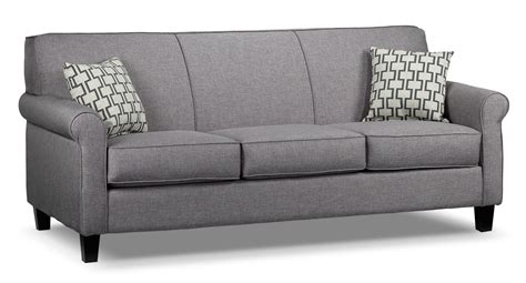 Grey Couches by Ariel Sofa Silver Grey S