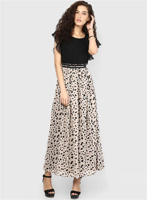 colored maxi dresses buy exclusive miaminx black colored printed maxi dress at