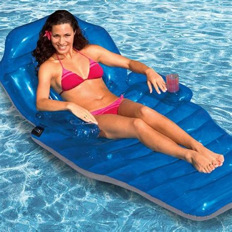 blow up pool bed poolmaster adjustable chaise lounger swimming pool
