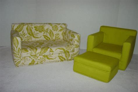 18 doll sofa 18 inch doll furniture sofa chair ottoman green