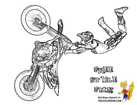 easy dirt bike coloring pages magnificent motorbike coloring pages free kawasaki fmx