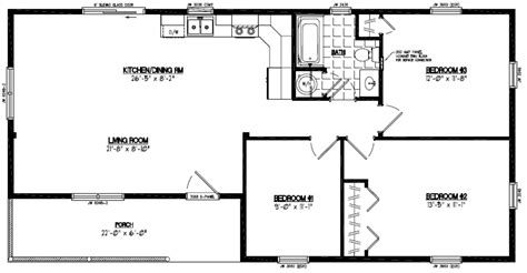 Double Wide Mobile Homes Floor Plans 24 x 48 home plans