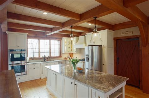 Frame Kitchen by The From The Bald Hill Timber Frame Home