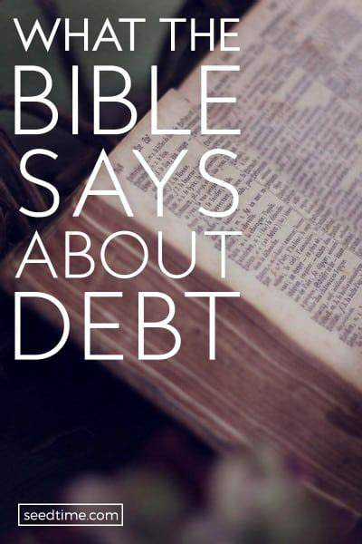 What You Owe Does Not Pay what does the bible says about debt the surprising