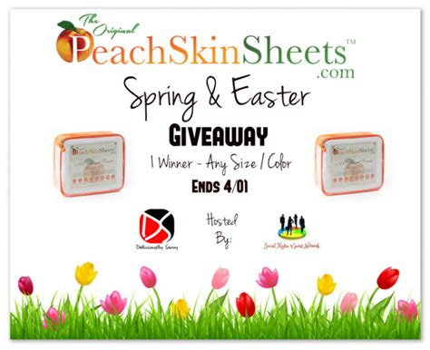 Easter Giveaways - peachskinsheets com spring easter giveaway 1 winner any size or color ends 4 01