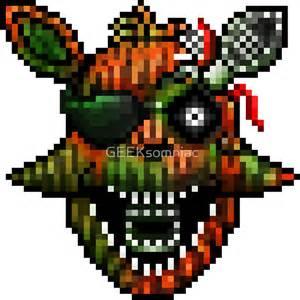 Minecraft Wall Stickers quot five nights at freddy s 3 pixel art phantom foxy