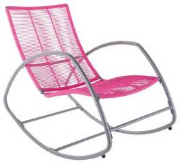 Metal Patio Rocking Chairs Moretta Metal Pink Rocking Chair Contemporary Outdoor Rocking Chairs Other Metro By B Q