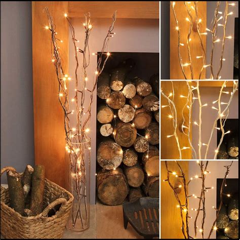 decorative branches with lights 87cm indoor mains plug christmas home nordic fairy string