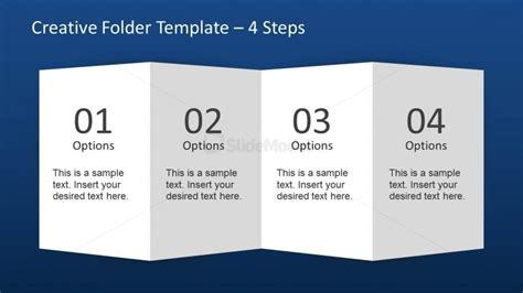 How To Fold Paper Into Brochure - creative folder paper with 4 fold brochure slidemodel