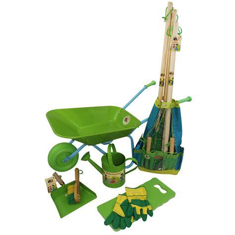 Children S Garden Tools Set by Childrens Wheelbarrow Garden Tools Watering Can Broom