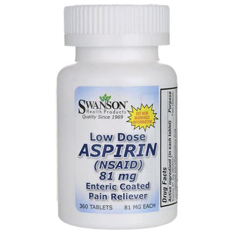 aspirin dose buy low dose aspirin enteric coated swanson health products