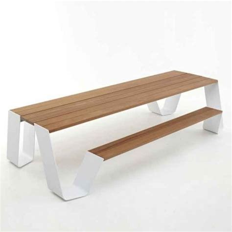 Modern Bench Dining Table Modern Picnic Table Modern Outdoor Dining Tables By Stephmodo