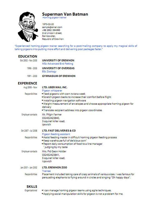 pdf resume template learnhowtoloseweight net