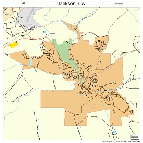 jackson map jackson california map 0636980