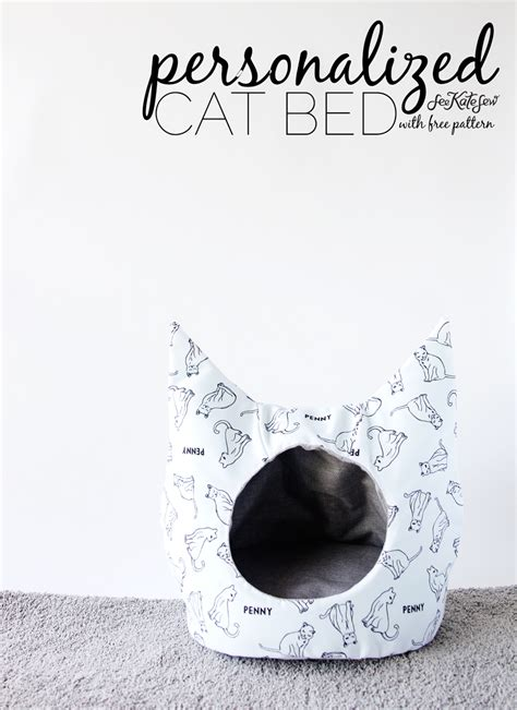Sewing Pattern Cat Bed | free cat bed sewing pattern see kate sew