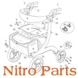 nitro rollator parts replacement rollator parts