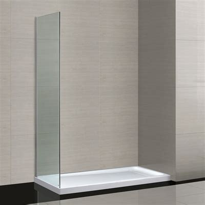 Lowes Bathroom Shower Doors 78 75 In H X 30 2 In W Shower Glass Panel Lowe S Canada