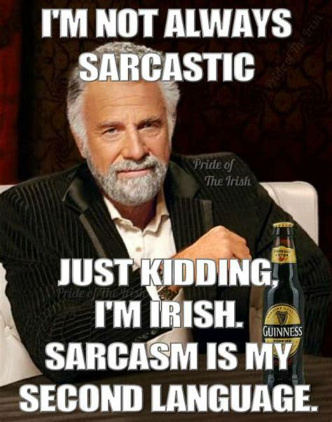 Irish Memes - tru irish and sarcastic as hell irish proud