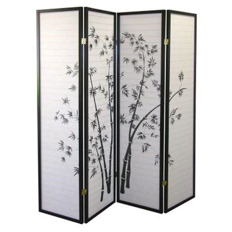room dividers home depot home decorators collection 4 panel bamboo room divider r591 4 the home depot