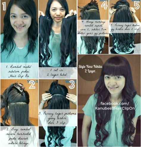 Rambut Palsu Di Surabaya hair clip panjang 70cm bisa catok dan curling iron new by jual hairclip hair