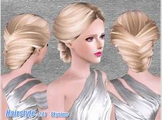 Romantic bun hairstyle 241 by Skysims by The Sims Resource ... J175